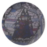 family circle,witches,by mandy ashby dinner plate