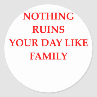 FAMILY CLASSIC ROUND STICKER