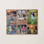 """Family collage 6 photos and family name jigsaw puzzle<br><div class=""""desc"""">Family name,  custom photo collage jigsaw puzzle You can personalize it and add your most beautiful photos,  family name and text. Great fun !</div>"""