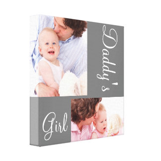 Family Collage Daddy's Girl Custom Canvas Print