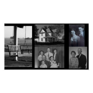 Family Collage, Special Memories, poster