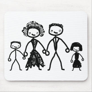 family  concept mouse pad