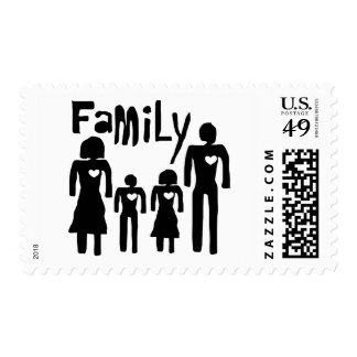 family  concept postage stamp