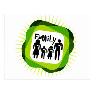 family  concept postcard