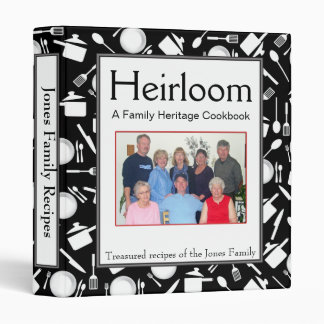 Family Cookbook - Customize - 1-inch BLACK Binder