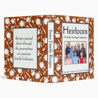 Family Cookbook - Customize - 1-inch BURNT ORANGE Binder