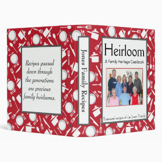 Family Cookbook - Customize - 1-inch RED Binders