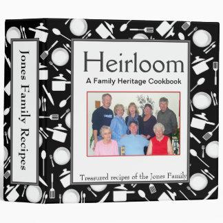 Family Cookbook - Customize 2-inch BLACK Vinyl Binders