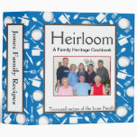 Family Cookbook - Customize 2-inch BLUE Vinyl Binder