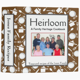 Family Cookbook - Customize 2-inch BROWN Binder