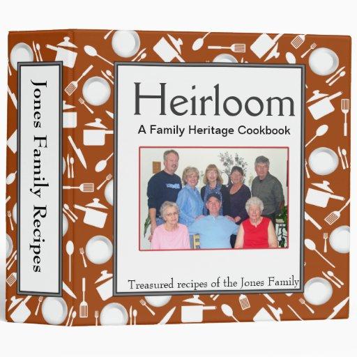 Family Cookbook - Customize 2-inch DK BURNT ORANGE Vinyl Binders