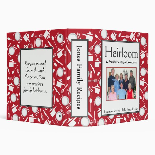 Family Cookbook - Customize 2-inch RED Binder