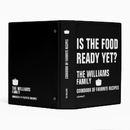 family cookbook of favorite recipes b/w mini binder