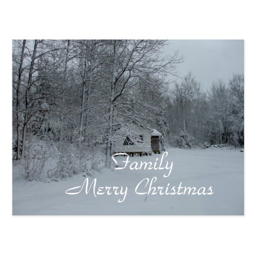 Family Country Christmas Post Cards
