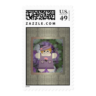 Family Country Doll Postage Stamps