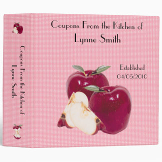 "Family Coupon Binder-- Apple design 2.8 """
