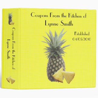 "Family Coupon Binder-- Pineapple design 2.8 "" Binder"
