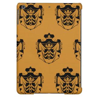 Family Crest Black Orange Cover For iPad Air