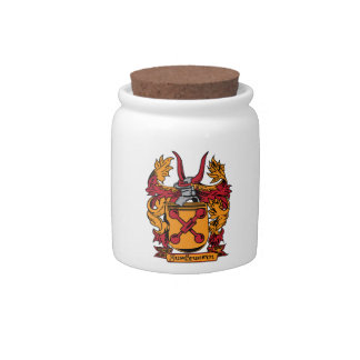 Family Crest Candy Jar