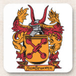 Family Crest Cork Coasters