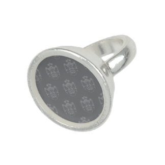 Family Crest Grey Photo Rings