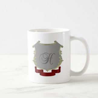 Family Crest Monogram Letter H Coffee Mugs