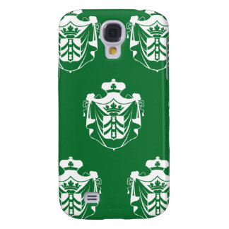 Family Crest white green Samsung Galaxy S4 Cover