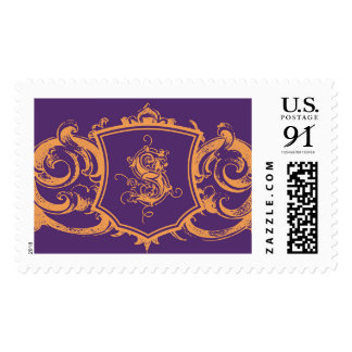 Family Crest with S monogram Postage Stamps