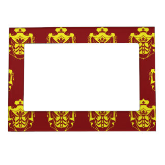 Family Crest Yellow Red Magnetic Frames