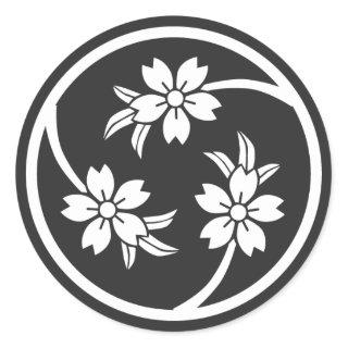 [Family Crests] Cherry tree Sticker brushed kanji