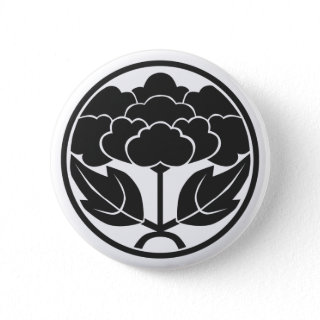 [Family Crests] Flowers Pins japanese calligraphy