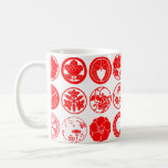 [Family Crests] Flowers Classic White Coffee Mug brushed kanji