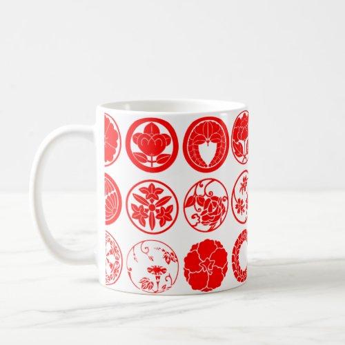 [Family Crests] Flowers Coffee Mug brushed kanji