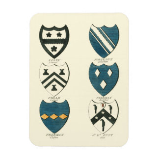 Family Crests of Various English Houses Rectangular Magnet