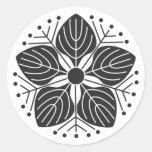 [Family Crests] Plants brushed kanji