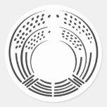 [Family Crests] Plants 丸形シール・ステッカー brushed kanji