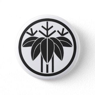 [Family Crests] Plants Pinback Buttons brushed kanji