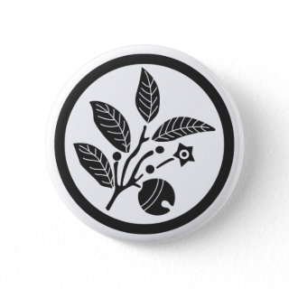 [Family Crests] Plants Buttons brushed kanji