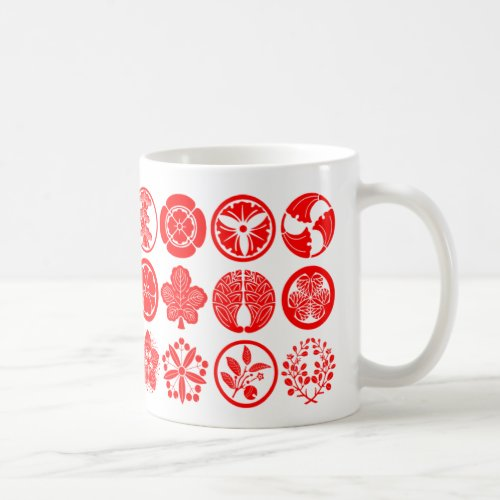 [Family Crests] Plants Coffee Mug brushed kanji