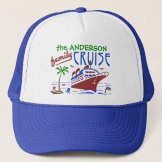 Family Cruise Ocean Ship Vacation   Custom Name Trucker Hat