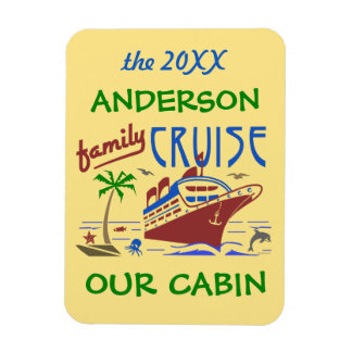 Family Cruise Ship Vacation | Cabin Stateroom Name Magnet