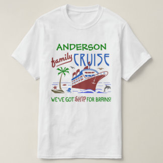 Family Cruise Vacation Funny Ship | Custom Name T-Shirt