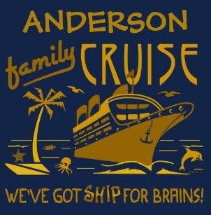4a9ea7bc Family Cruise Vacation Funny Ship | Custom Name V2 T-Shirt