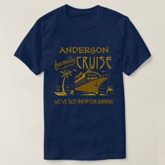 Family Cruise Vacation Funny Ship | Custom Name V2 T-Shirt