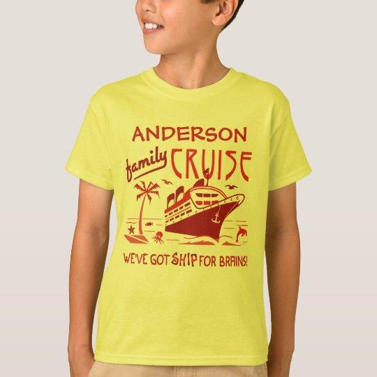 Family Cruise Vacation Funny Ship | Custom Name V5 T-Shirt ...