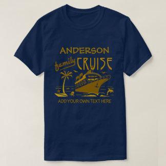 Family Cruise Vacation Ship Custom Name + Text V2 T-Shirt