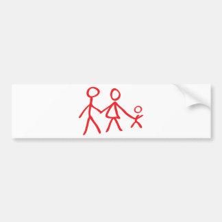 family dad mom kid bumper sticker