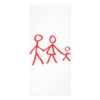 family dad mom kid rack card template