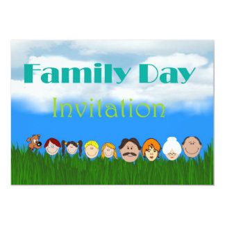 Family day Invitation with family faces