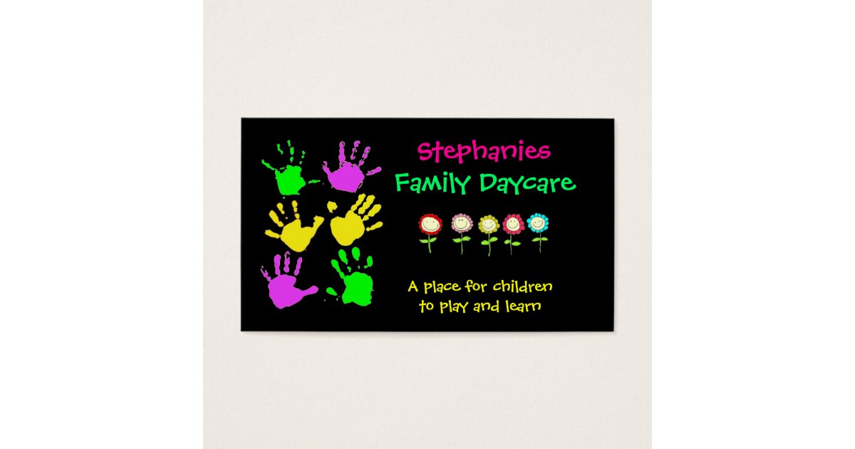 Family Daycare Business Card | Zazzle.com